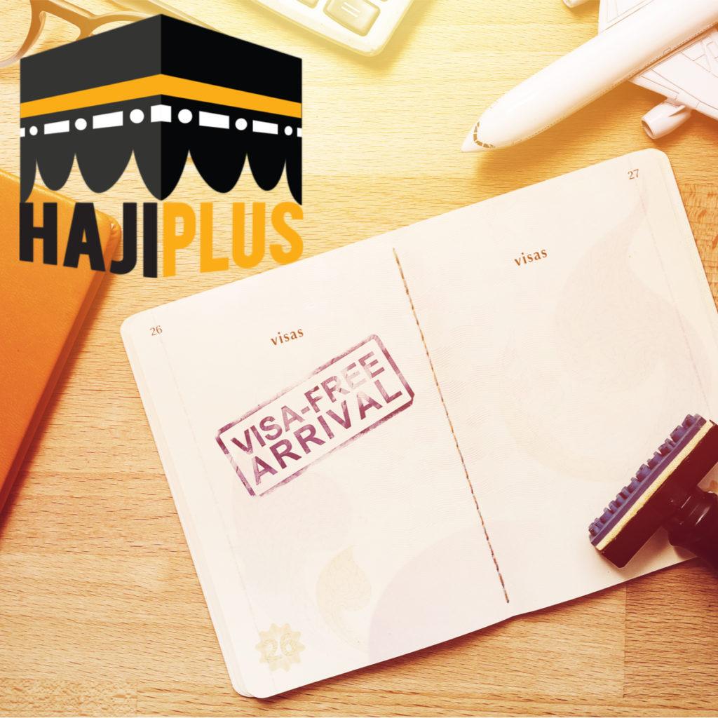 Visa masuk untuk jalur haji plus menggunakan visa masuk haji seperti jalur reguler