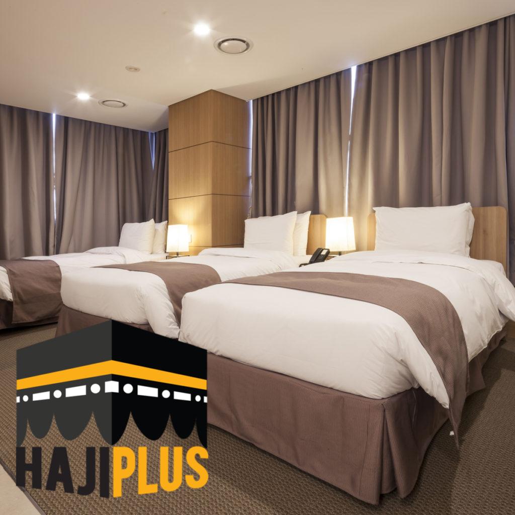 Sahabat Haji Plus juga bisa memilih paket triple dengan fasilitas satu kamar berisi tiga orang