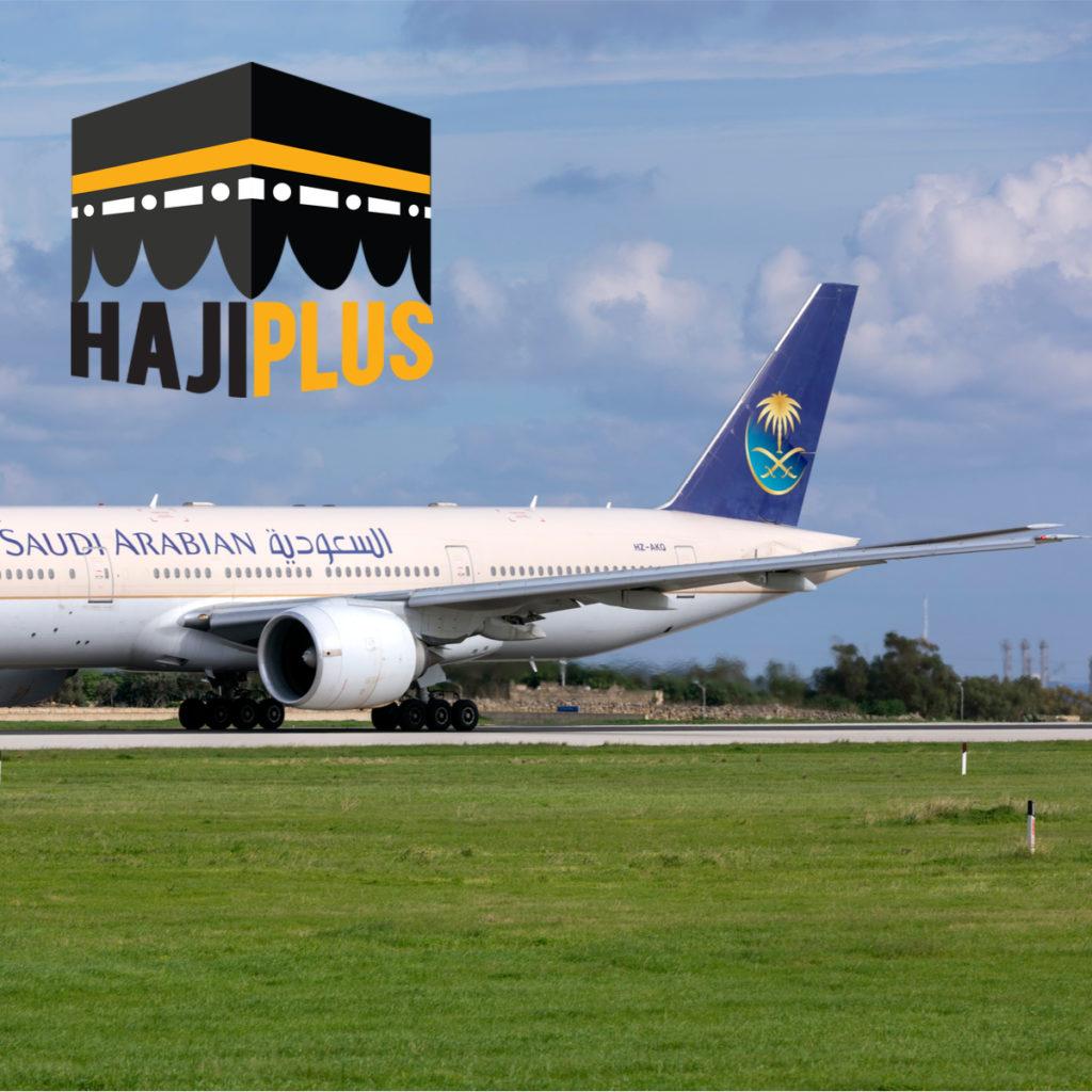 salah satu fasilitas yang didapatkan adalah, tiket PP tiket pesawat terbang PP (Pergi - Pulang), dari Jakarta ke Jeddah, demikian pula sebaliknya, untuk kelas ekonomi